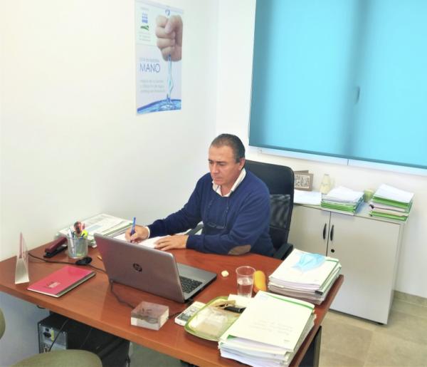 Videoconferencia para tratar la convocatoria de asignación de los recursos del embalse de Siles