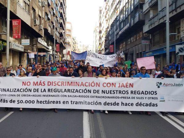 Dos años sin respuesta a una histórica protesta en Jaén. Nada ha cambiado